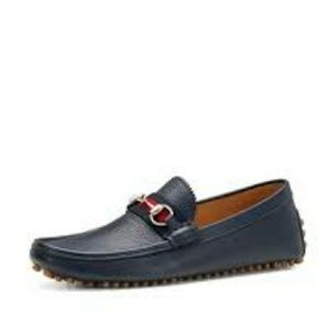 Gucci loafers size 10 1/2 (navy blue)